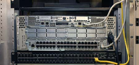 Cisco 3745 router (the business end)