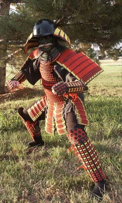 Mark Steven Grove in japanese armor